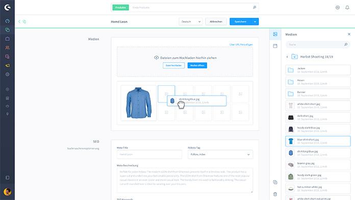 Einfach zu kreierende Produktdetailseiten